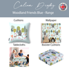 Children's Animal Floor Cushion / Beanbag Seat - Woodland Friends Blue