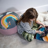 Children's Floor Cushion / Beanbag Seat - Bee a Rainbow Grey