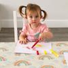 Children's Tablecloths - Bee a Rainbow Cream