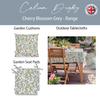 Waterproof Indoor Tablecloth - Cherry Blossom Grey