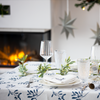 Christmas Napkins - Mistletoe Natural (37cm)