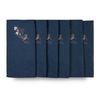 Christmas Napkins - Robin & Berries Navy (37cm)