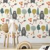 Children's Animal Wallpaper - Woodland Friends Cream