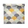 Geometric Wallpaper - Scandi Hills Yellow