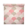 Geometric Wallpaper - Scandi Hills Pink