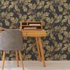Woodland Wallpaper - Golden Oak Graphite