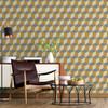Geometric Wallpaper - Cube Yellow