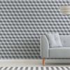 Geometric Wallpaper - Cube Grey