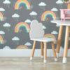 Children's Wallpaper - Bee a Rainbow Grey
