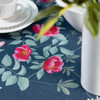 Celina Digby Luxury Eco-Friendly Recycled Fabric Tablecloth -  Rose Garden Navy - Available in 6 Sizes