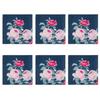 Celina Digby Luxury Eco-Friendly Recycled Fabric Napkin Sets - Rose Garden Navy - (40 x 40cm)