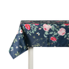 Outdoor Garden Tablecloth AVAILABLE IN 5 SIZES - Optional Centre Hole for Parasol - Rose Garden Navy