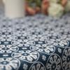 Outdoor Garden Tablecloth AVAILABLE IN 5 SIZES - Optional Centre Hole for Parasol - Casablanca Blue