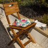 Cushioned Chair Seat Pad, Buttoned with Rear Ties - Midsummer Morning