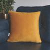Opulent Super Soft Velvet Cushion - Saffron - Available in 2 Sizes
