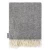 Luxurious 100% Wool Herringbone Blanket - Smoky Grey