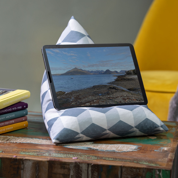 Tablet Beanbag - Cube Grey