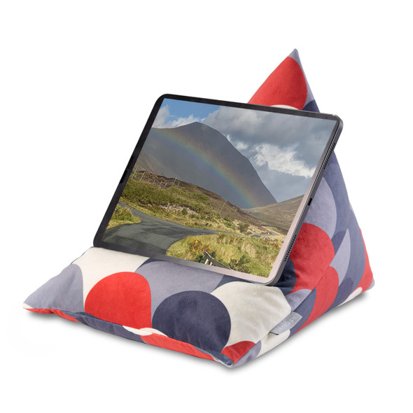 Tablet Beanbag - Scandi Hills Red & Navy