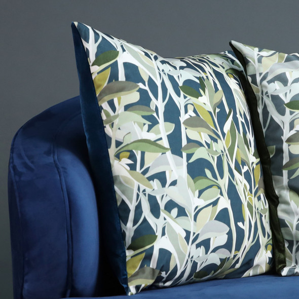 Opulent Velvet Cushion - Ficus Teal