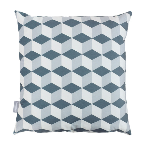 Opulent Velvet Cushion - Cube Grey