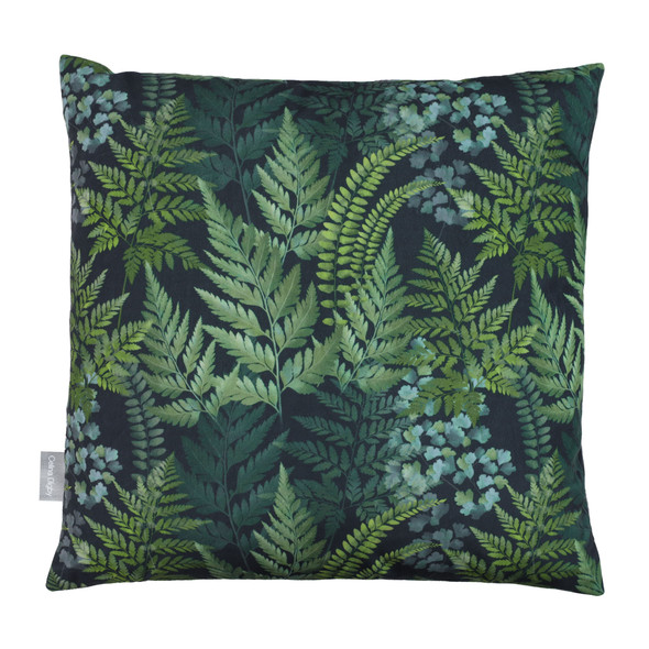 Opulent Velvet Cushion - Ferns