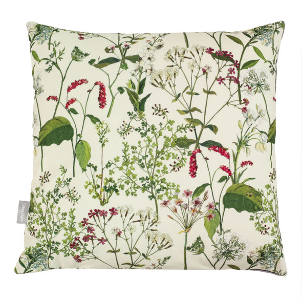 Opulent Velvet Cushion - Welsh Meadow Cream