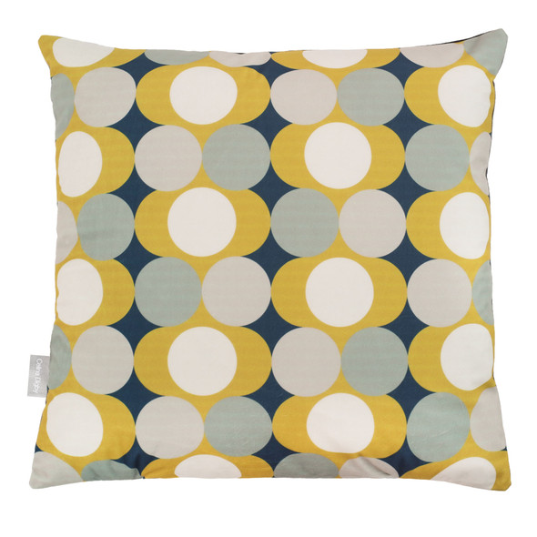 Opulent Velvet Cushion - Dot Drops Mustard