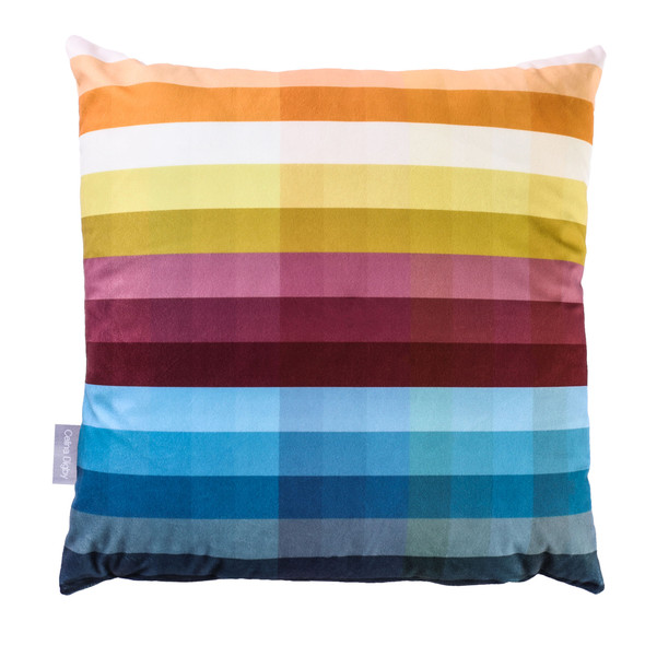 Opulent Velvet Cushion - Pixel Stripes