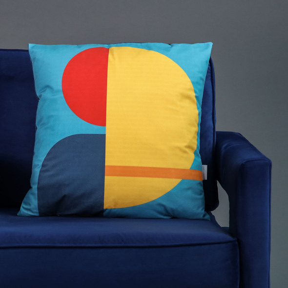 Opulent Velvet Cushion - Yellow Harmony