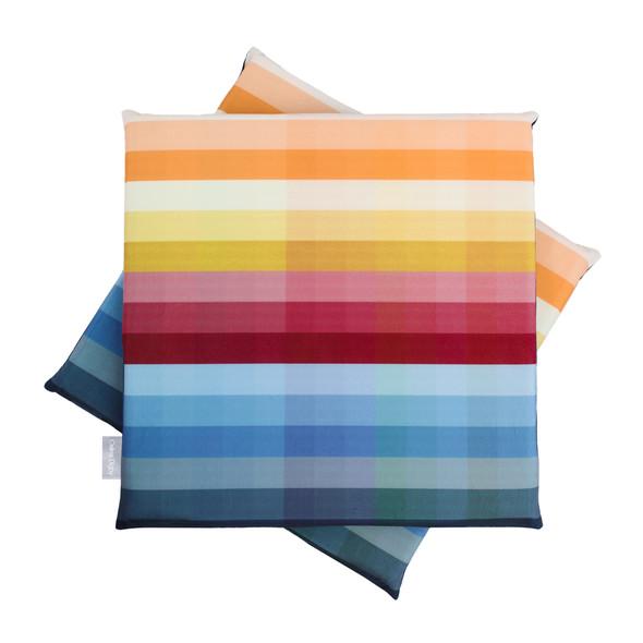 Velvet Seat Pads - Pixel Stripes