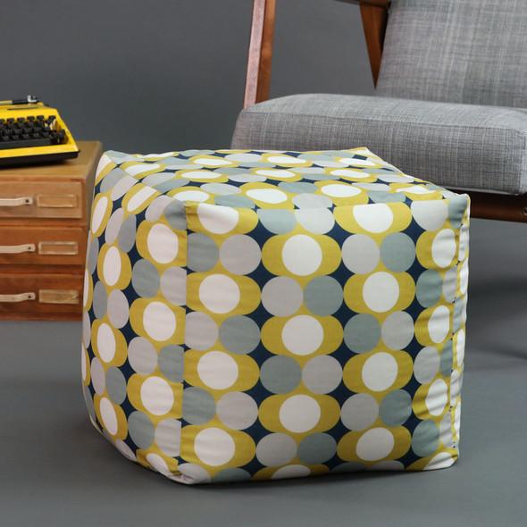 Cube Pouffe - Dot Drops