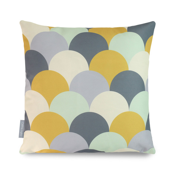 Water Resistant Garden Cushion - Scandi Hills Mustard