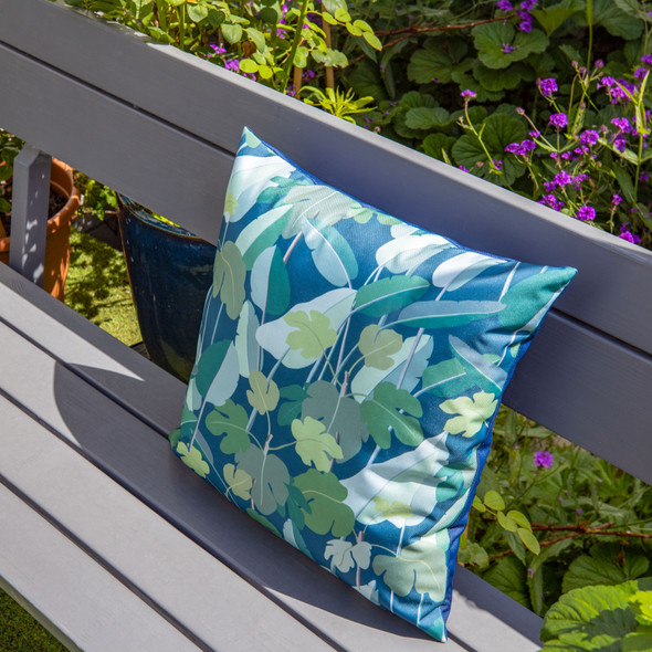 Water Resistant Garden Cushion - Palm Leaves