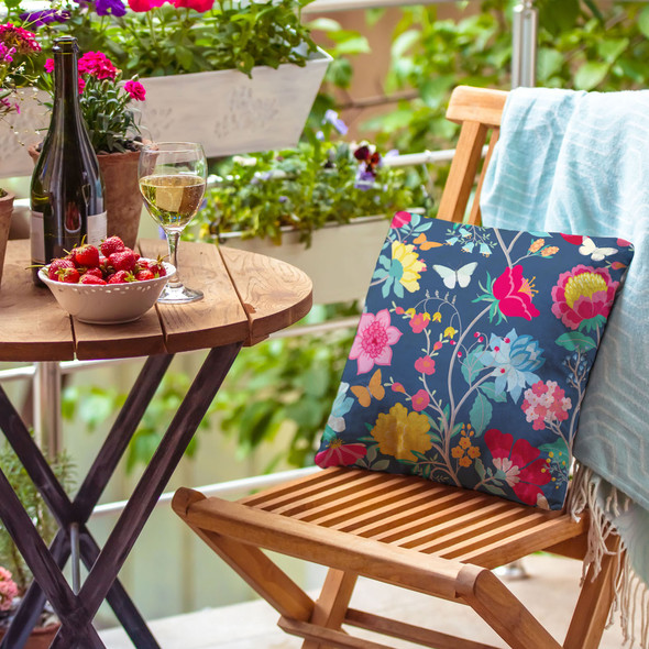 Water Resistant Garden Cushion - Midsummer Night