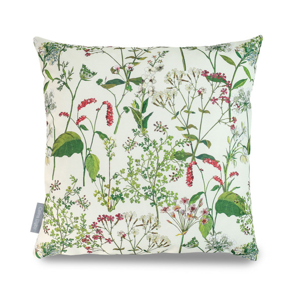 Water Resistant Garden Cushion - Welsh Meadow Cream