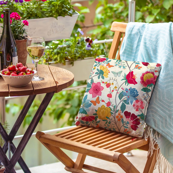 Water Resistant Garden Cushion - Midsummer Morning
