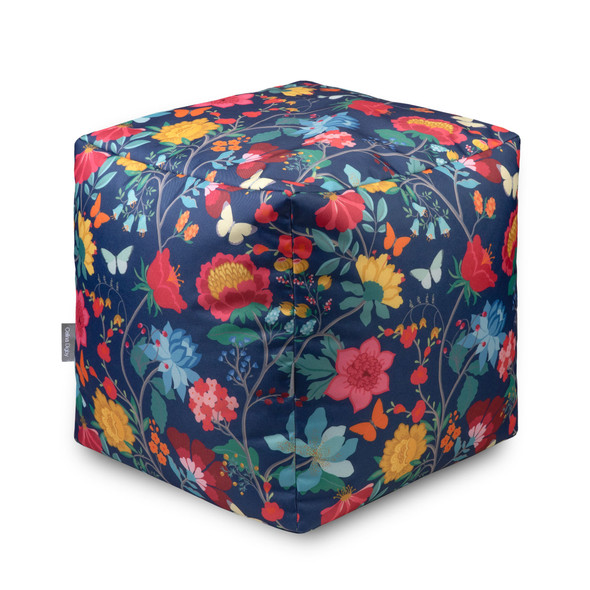 Water Resistant Garden Cube Pouffe - Midsummer Night