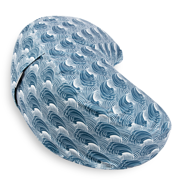 Crescent-Moon Zafu Cushion - Wave Flow