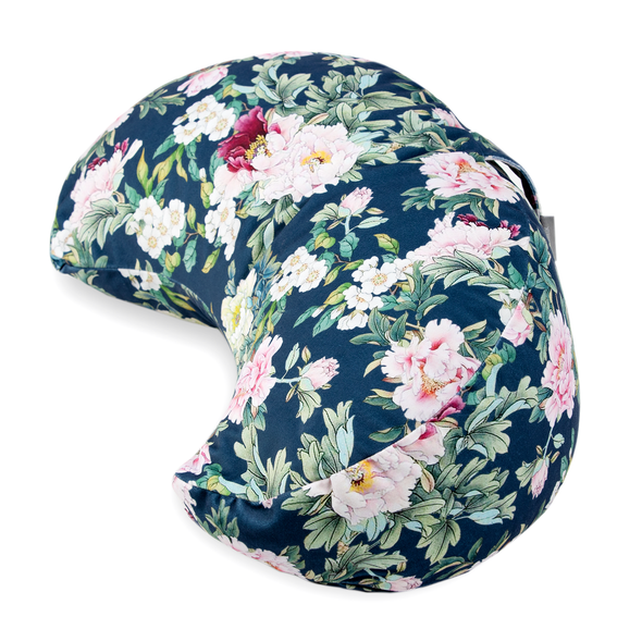 Crescent-Moon Zafu Cushion - Sweet Peony