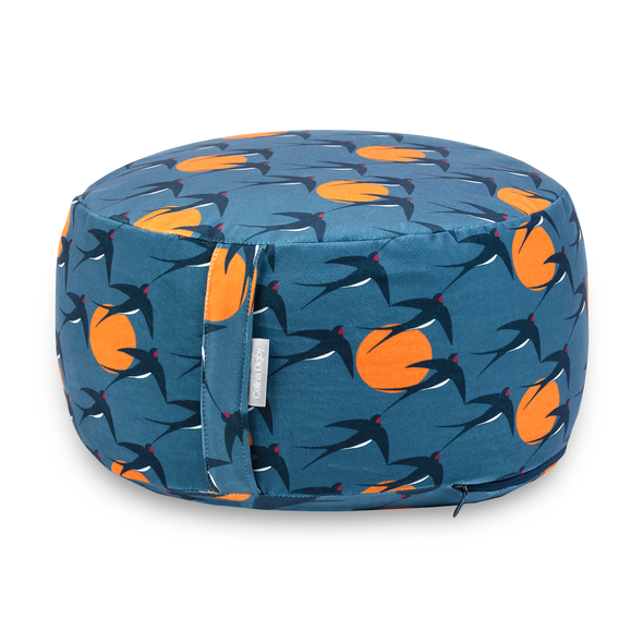 Zafu Round / Wheel Cushion - Swallows