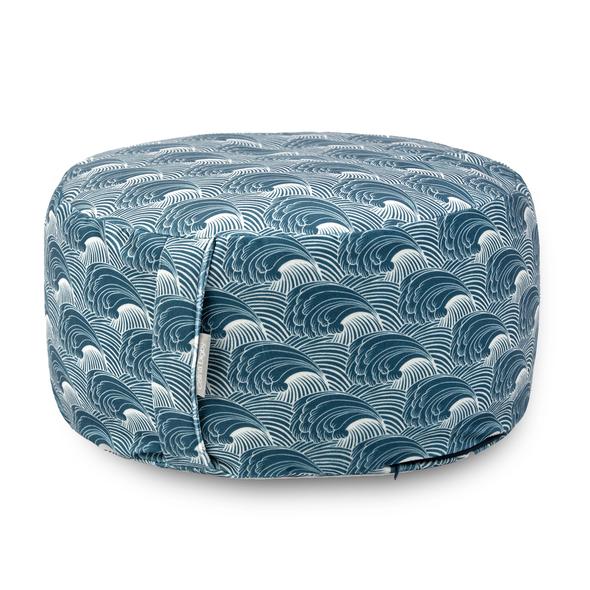 Zafu Round / Wheel Cushion - Wave Flow