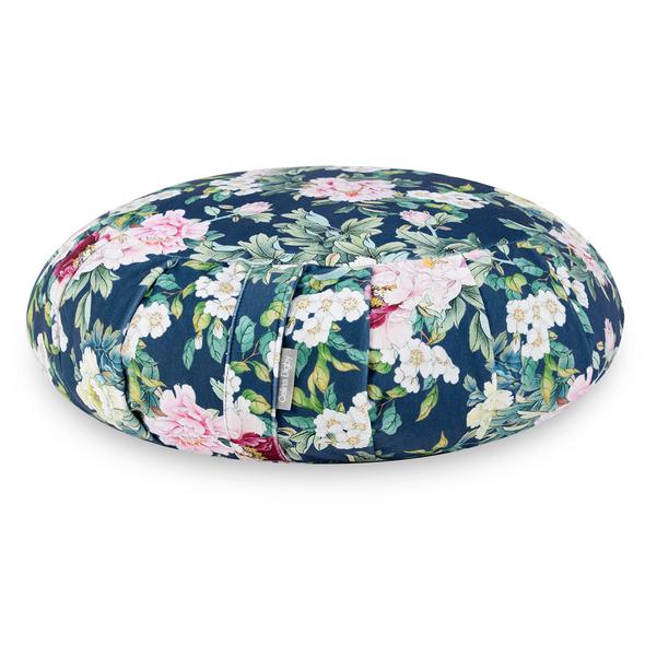 Zafu Traditional Pleated Cushion - Sweet Peony