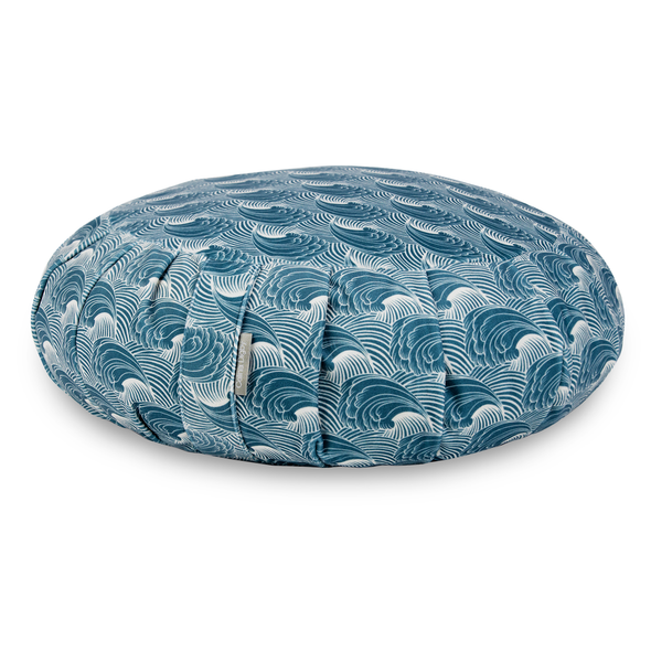 Zafu Traditional Pleated Cushion - Wave Flow