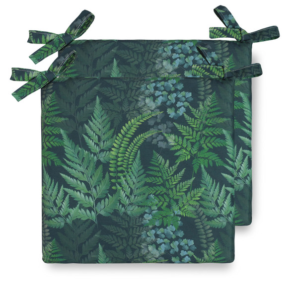 Water Resistant Garden Seat Pads - Ferns