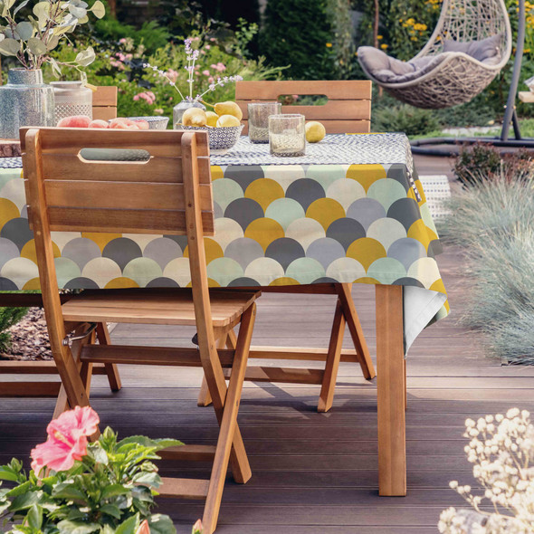 Waterproof Tablecloth - Scandi Hills Mustard