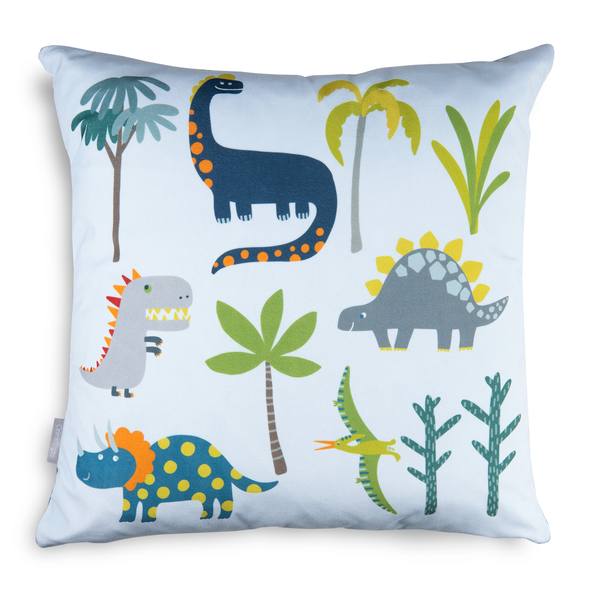 Children's Dinosaur Cushions - Dino Days Blue