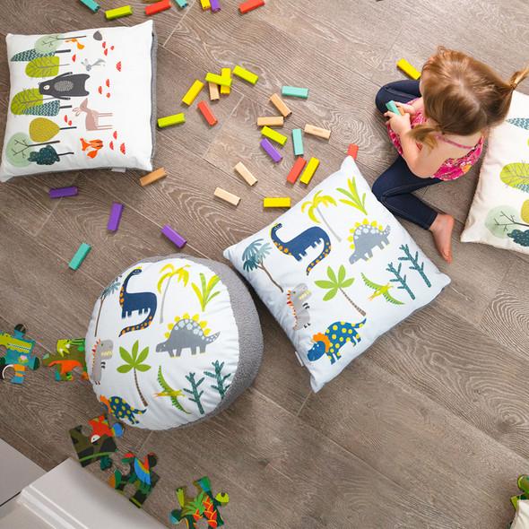 Children's Dinosaur Cushions - Dino Days Blue