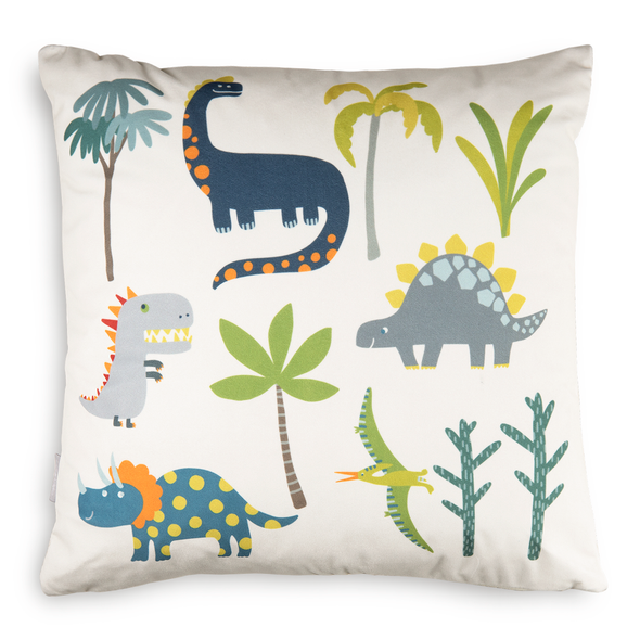 Children's Dinosaur Cushions - Dino Days Cream