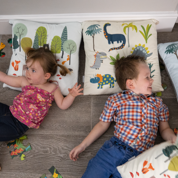 Children's Cushions - Dino Days Cream