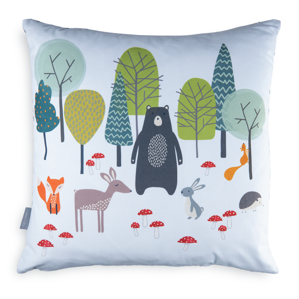 Children's Animal Cushions - Woodland Friends Blue